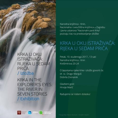 """U petak u kninskoj knjižnici velika izložba u organizaciji NSK: """"Krka u oku istraživača: rijeka u sedam priča"""""""